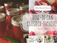 How to Can Crushed Tomatoes found on PunkDomestics.com